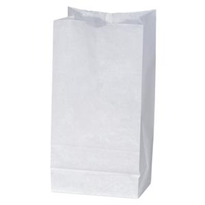 White Unlined Paper Peanut Bag With Serrated Cut Top, Side & Bottom Gussets