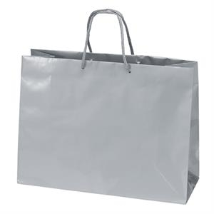 "Tiara Eurototes - Gloss 16"" Laminated Paper Shopping Bag With Matching Macrame Handles"