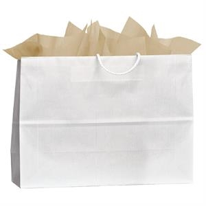 Vegas Uptown Shopper - Kraft Paper Shopping Bag With Mirage Stripe Pattern Finish