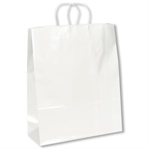 Anna Marie Shopper - Color Bag - Gloss Shopper Bag With Twisted Kraft Paper Handles And Serrated Cut Top