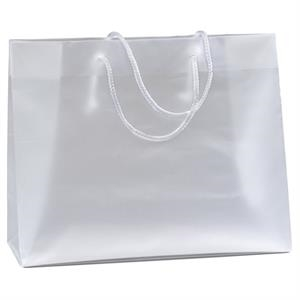 Scorpio - Hi-density Frosted Plastic Euro Tote Bag With Knot Tied Macrame' Handles