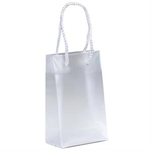 Aries - Hi-density Frosted Plastic Euro Tote Bag With Macrame' Handles