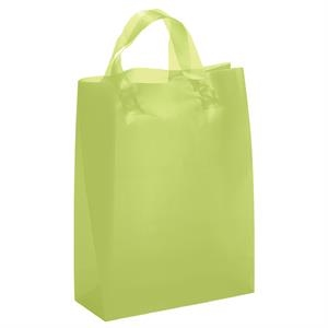 Lily Brite Shoppers - Frosted Color Plastic Bag With Matching Fused Loop Handles