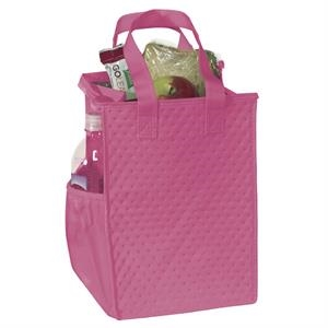 Therm-o-snack (tm) - Non-woven Polypropylene Insulated Lunch-style Tote With Zipper Closure