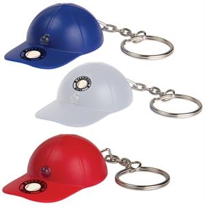 Light Up Baseball Hat Key Tag