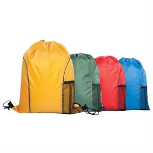Drawstring Backpack With Front Open Pocket And Mesh Pocket