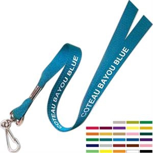 "Original Design Smooth Woven Polyester 5/8"" Lanyard, Made In Usa"