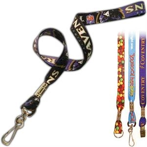 "1"" Dye Sublimated Lanyards - With Safety Breakaway"