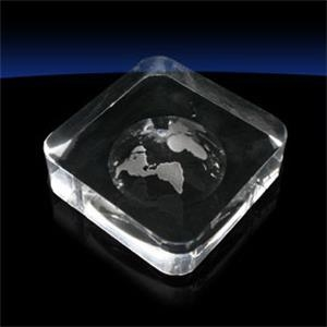 Globe Square Paperweight