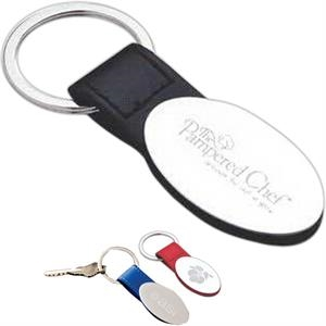 Pinemax - Black - Key Holder With Colored Faux Leather Tab