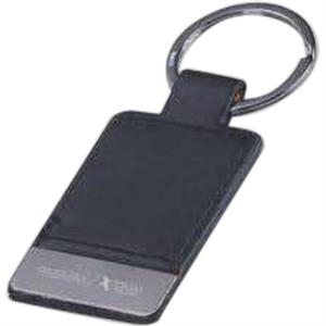 Pinemax - Faux Leather Key Holder With Gun Metal Plate