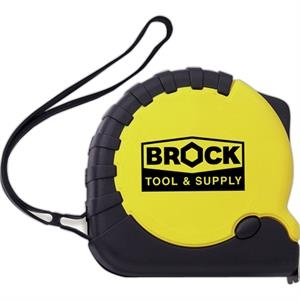 Pro - Tape Measure Of 25 Foot With Metal Tape, Rugged And Has Side Hold Button