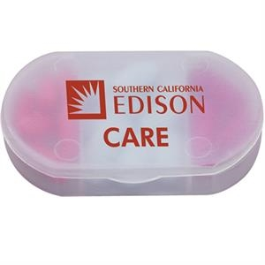 Tri-case - Frosted Clear Compact Size Pill Box With Three Compartments