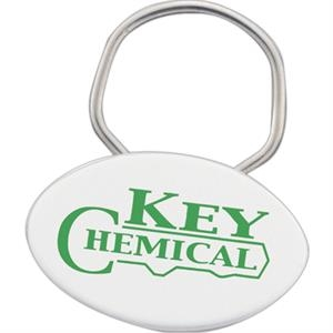 Nature Ad (tm) Showring - Oval Shape Key Ring. Made From 100% U.s. Corn Plastic