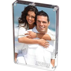 Prato - 5 X 7 Two Sided Magnetic Acrylic Frame. Stands Vertically And Horizontally