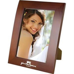 Ferrara - 4 X 6 Walnut Finish Photo Frame. Stands Vertically Or Horizontally