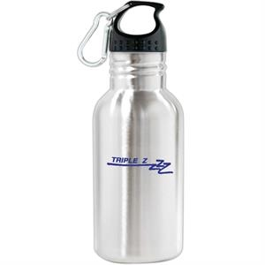"Oakley - 16 Oz Stainless Steel Sports Bottle. 1 3/4"" Wide Mouth. Includes Carabiner Clip"