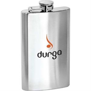 Lincoln - 5 Oz Stainless Steel Flask With Hinged Cap