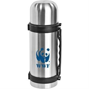 Dixon - 32 Oz Travel Stainless Steel Vacuum Bottle. Lid Doubles As A Cup