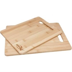 2 Piece Bamboo Cutting Board Set. Large And Small Eco-friendly Cutting Boards