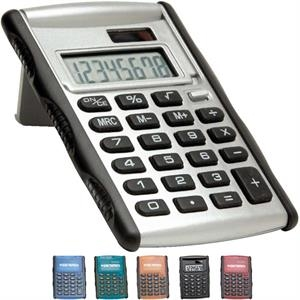 8 Digit Pocket Calculator With Rubberized Grip