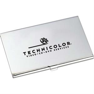 Classic - Silver Plated Business Card Holder With Snap Closure