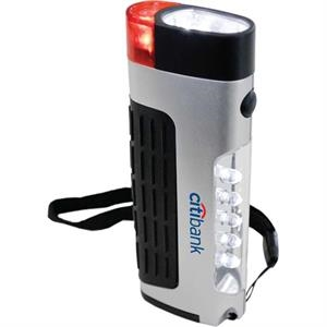 Compact 3-function Lantern. 5 Led Area Light, 2 Led Flashlight & Emergency Blinker