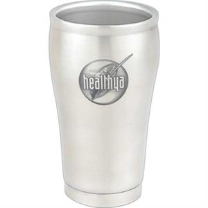 Contour - 8 Oz. Double Wall Stainless Steel Cup. Elegant Promotional Item