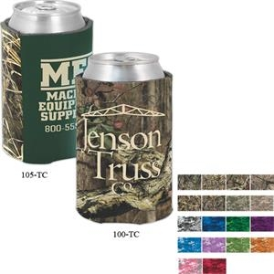 Camo Coolies (tm) - Two-tone Can Insulator With Trademark Camouflage Accent Panel