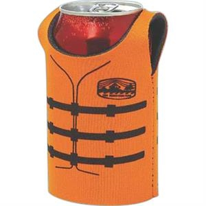 "Can Jersey (tm) - Can Insulator, Sleeveless, 1/8"" High-density Recycled Scuba Foam"