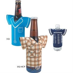 "Bottle Jersey (tm) - Four-color Process Bottle Insulator Sleeve, 1/8"" Thick High Density Scuba Foam"