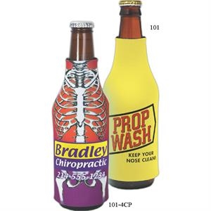 Bottle Coolie (tm) - Four-color Process Bottle Insulator, 1/8""