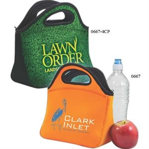 Neoprene Lunch Bag With Zipper Closure
