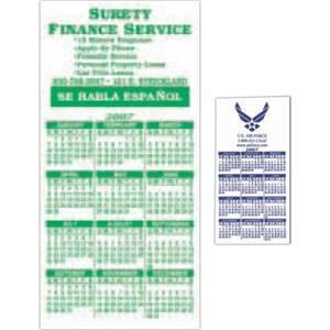 "Calendar/schedule Magnet, Flexible Vinyl Protected With A Plastic Coating 2"" X 4"""