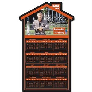 "Tuffmag (tm) - Real Estate Magnet - House Shape 3.75"" X 6.125"" - Outdoor Safe"