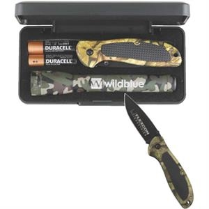 AA Digital Camo Mini Mag-Lite with Cougar Pocket Knife