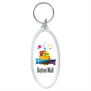 "5 Working Days - Full Color Oval Key Ring, 1 3/4"" X 3"""