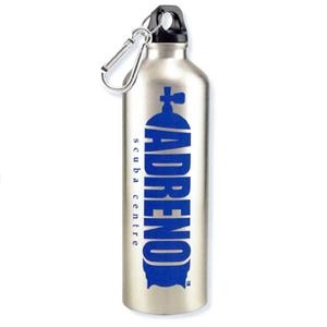 Hydro - Silver - Aluminum Sports Bottle With Carabiner, 25 Oz