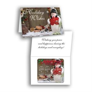 "Smartline (tm) - Bi-fold Greeting Card With 3 1/2"" X 3 7/8"" Calendar Magnet"