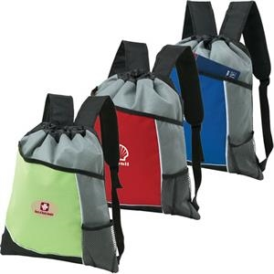 Malibu Cinchpak - Backpack/cinchpack Made Of Polyester With Diamond Non-woven Polypropylene
