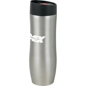 Monroe (tm) - Nickel - 16 Oz 18-8 Stainless Steel Dual Wall Tumbler