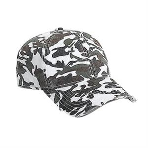 Six Panel Superior Garment Washed Cotton Twill Pro Style Camouflage Cap. Blank