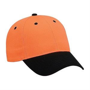 Neon Superior Polyester Canvas Two Tone Pro Style Cap. Blank
