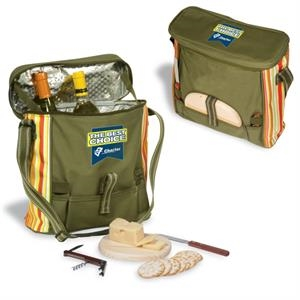 Picnic Cooler, Insulated 600 Denier Polyester And Adjustable Straps