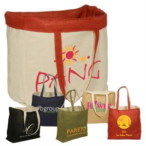 Eco-responsible (tm) - Reversible Jute/cotton Tote