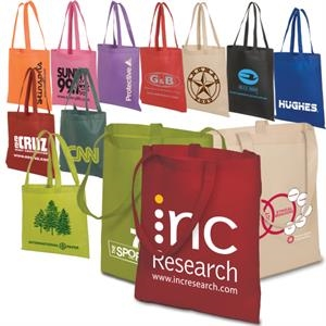 Eco-responsible (tm) Econo - Non-woven 80 Grams Polypropylene Tote, Lightweight And Durable