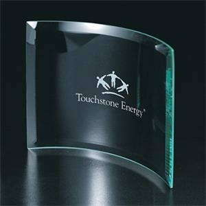 "4"" X 6"" X 3/16"" - Curved Glass Display"