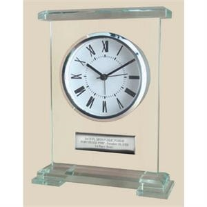 Glass Desk Analog Alarm Clock, Elegant Impressive Look And High Perceived Value