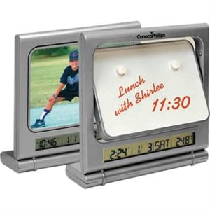 "Flipper (r) - Flipper Memo Picture Clock That Holds A 5"" X 3"" Photo"