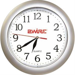 Silver Analog Wall Clock, 10 3/8""